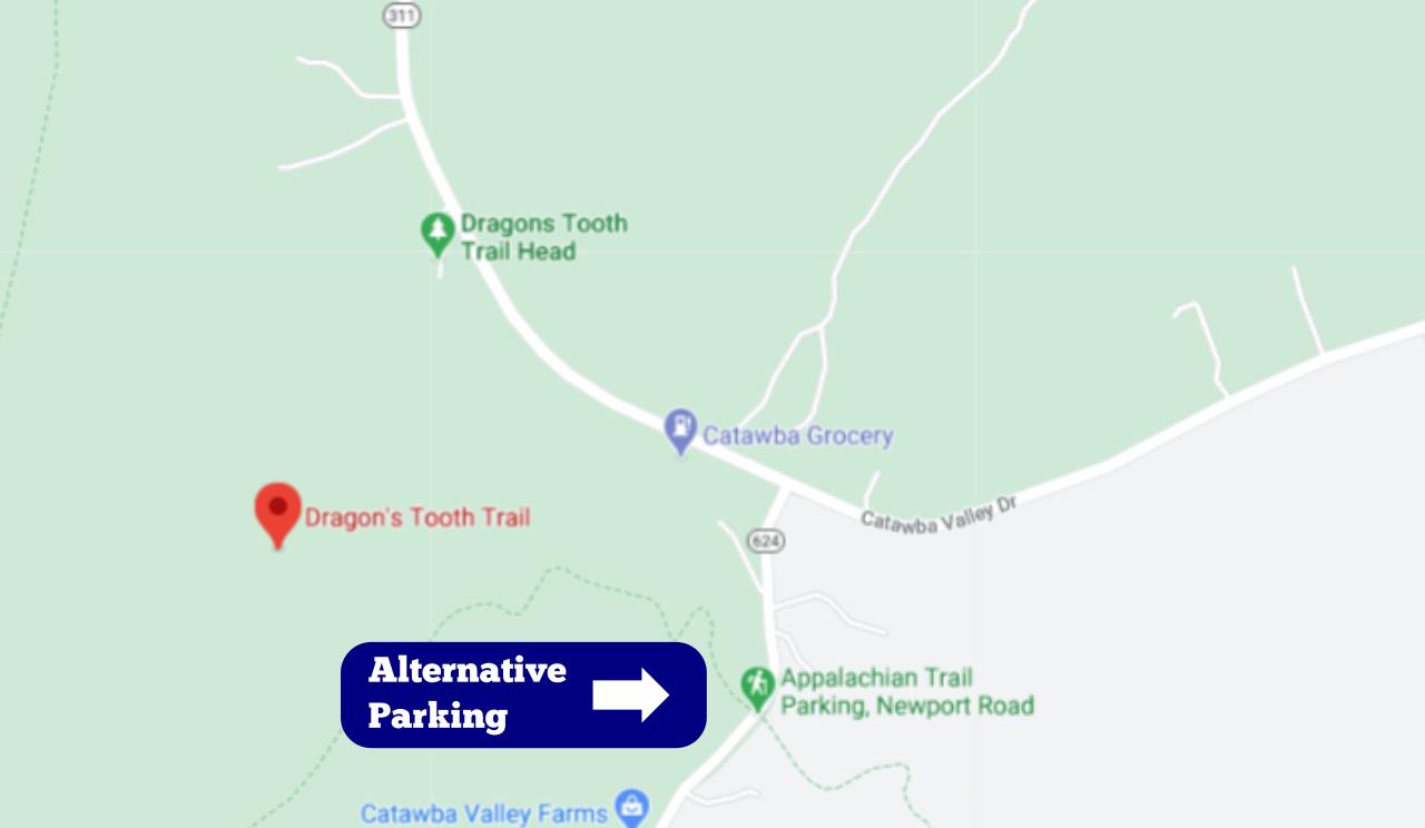 Alternative Parking Dragons Tooth Map Yoanoke