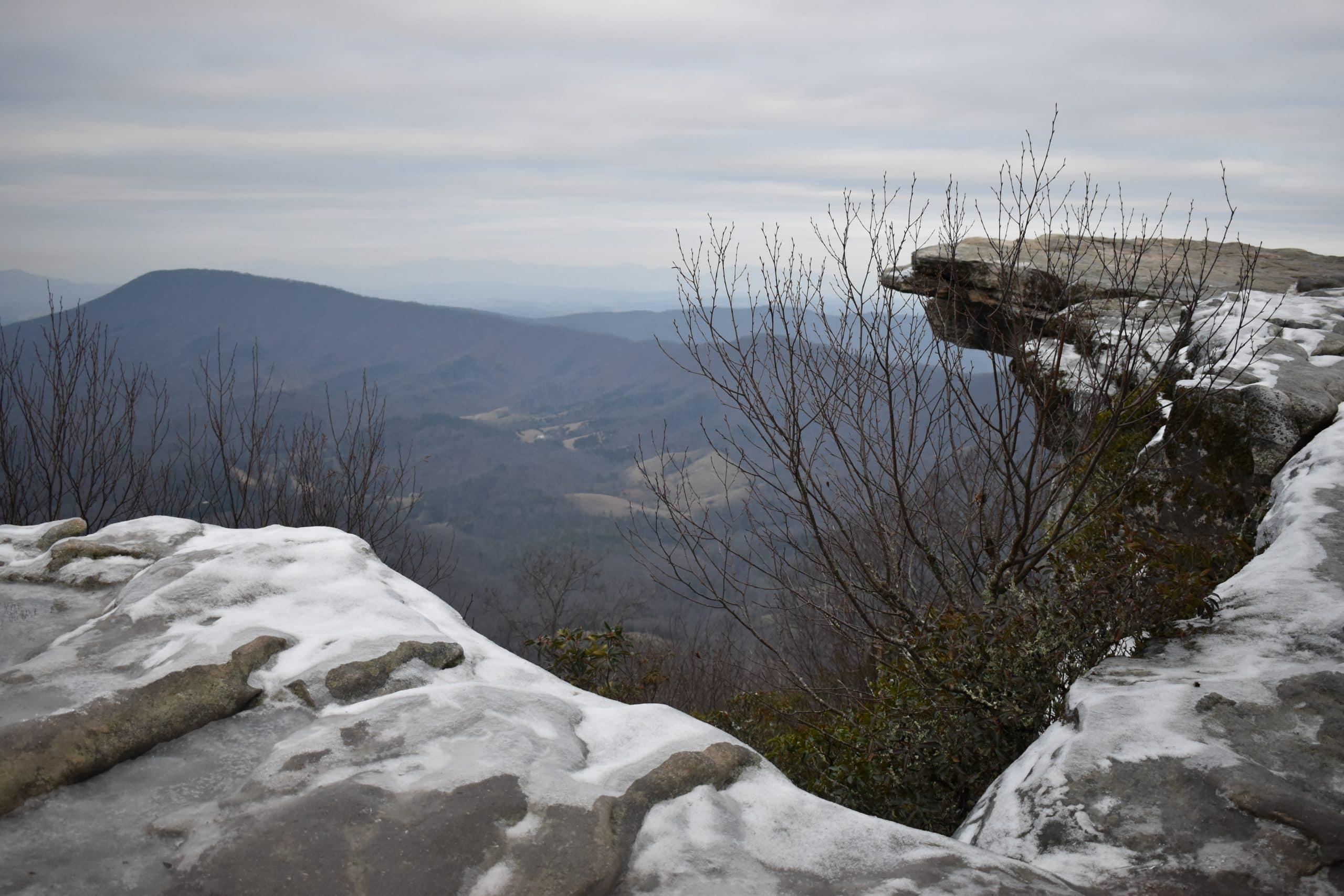 Mcafee Knob Snow Peak scaled