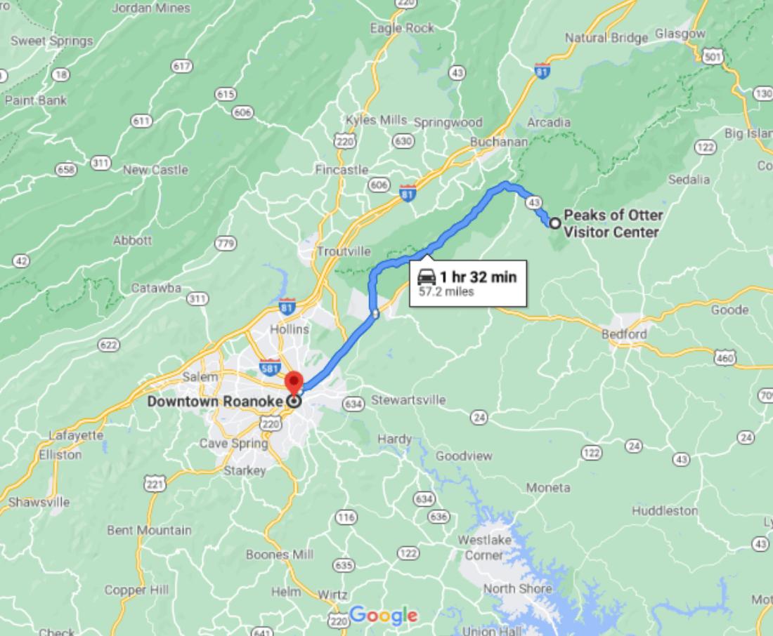 Road Trips From Roanoke - Peaks of Otter